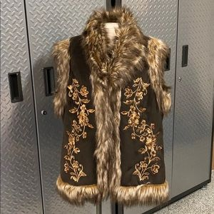 INC International Concepts Furry Jacket Vest